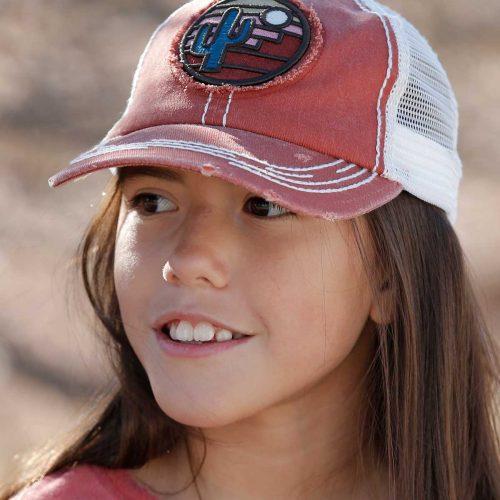 kids red trucker hat