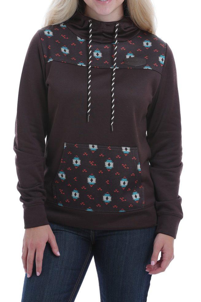 ladies brown hoodie