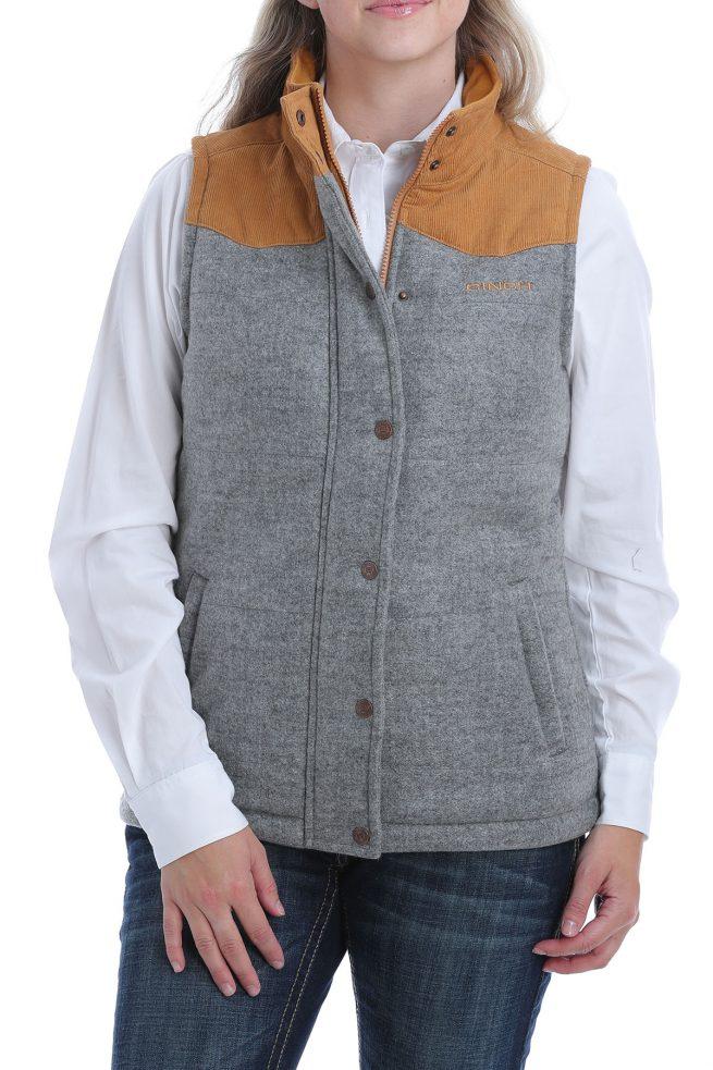 ladies tweed vest
