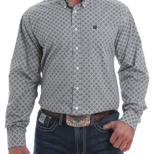 mens BLACK WHITE DIAMOND shirt