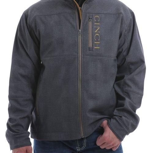 Mens grey gold bonded jacket