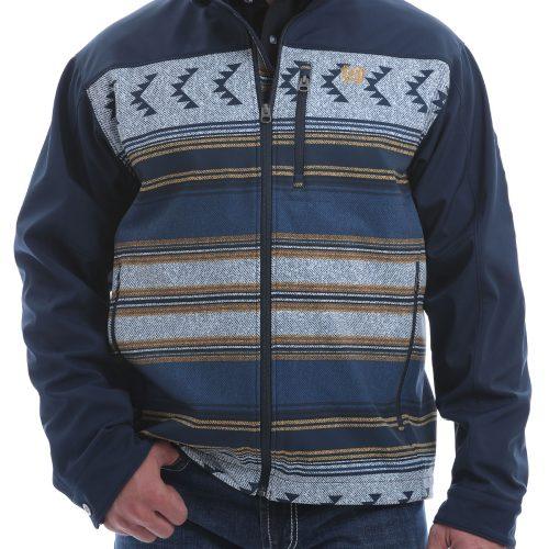 mens navy aztec jacket