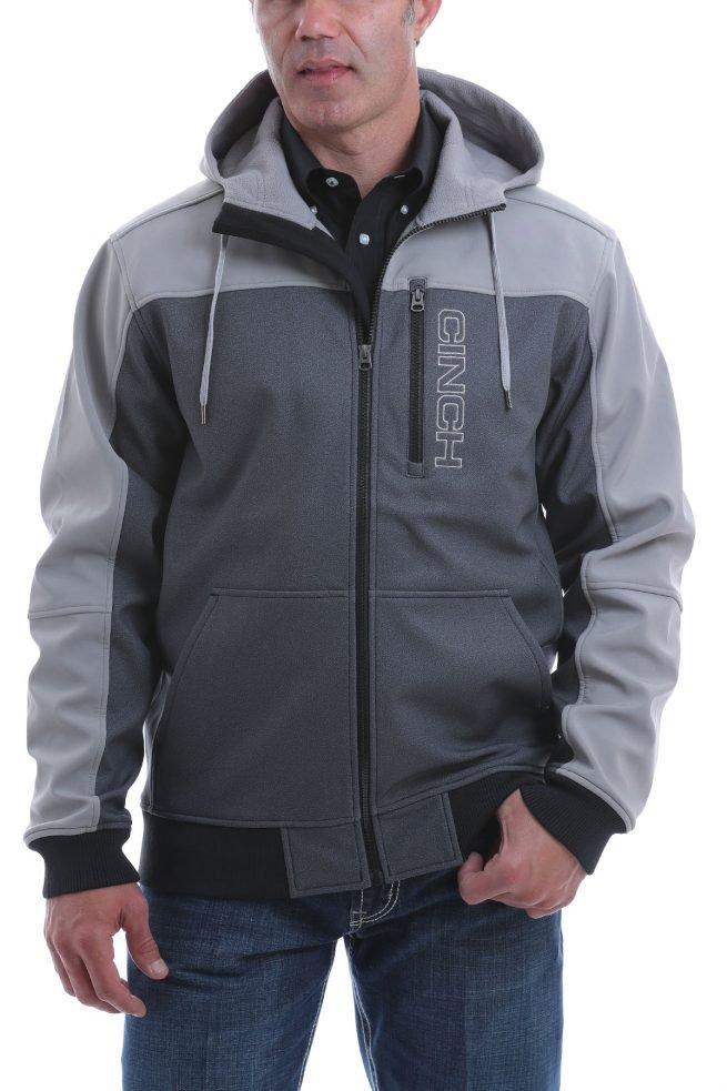 mens color block hooded jacket
