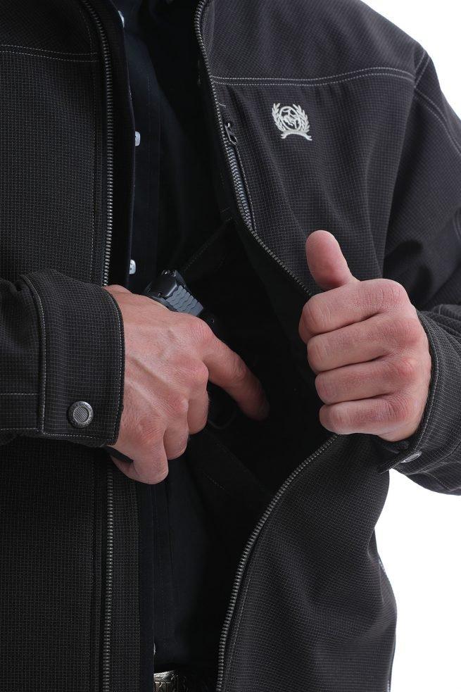 mens black conceal carry pocket